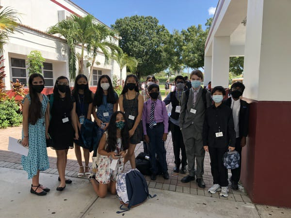 FCMS Debate Team before the tournament! (Second photo at the bottom)
